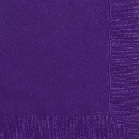 Purple Beverage Napkins (20)