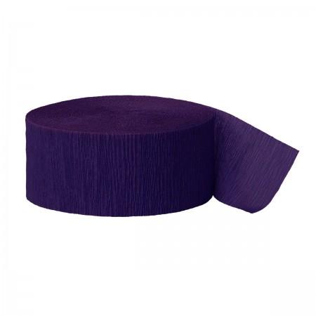 Purple Crepe Streamers (6)