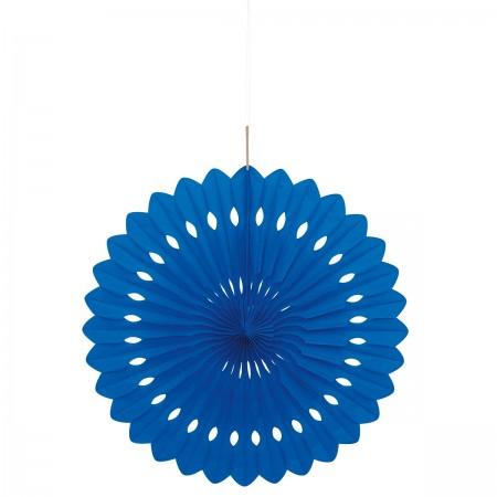 Royal Blue Hanging Decorative Fan (1)