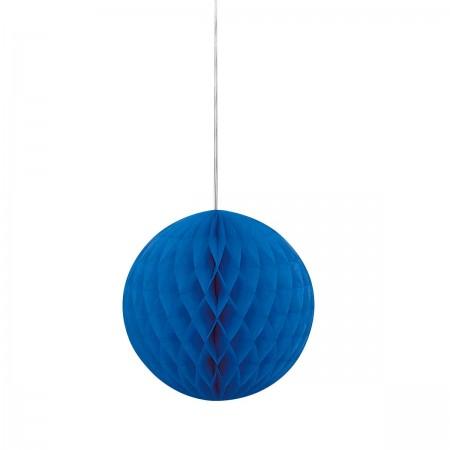 "Royal Blue Honeycomb Ball 8"" (1)"