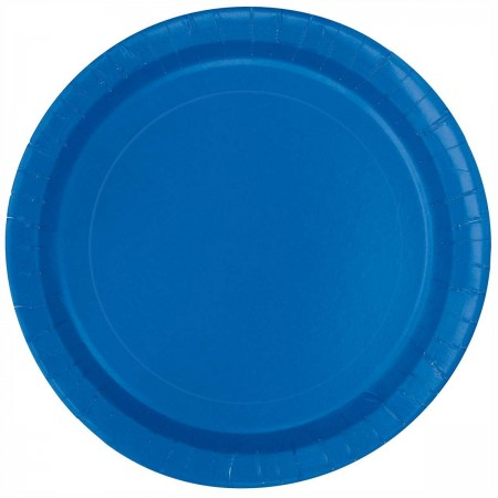 Royal Blue Round Lunch Plates (16)