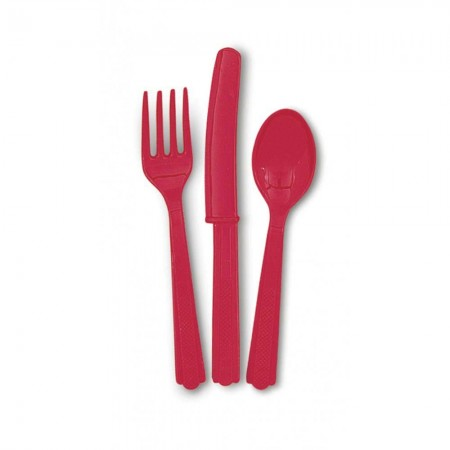 Ruby Red Assorted Cutlery (24)