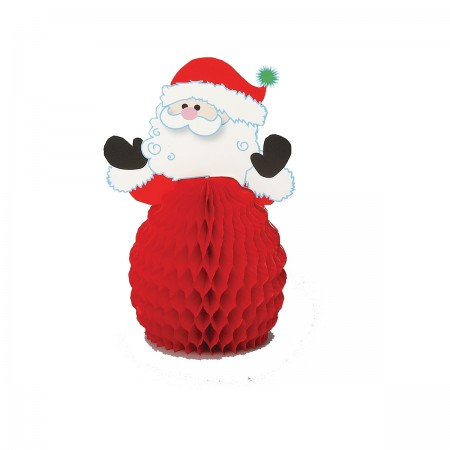"Santa Honeycomb Decoration 6"" (4)"