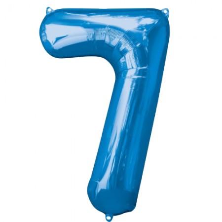 "34"" 7 Blue Number Shape - Package (1)"