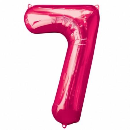 "34"" 7 Pink Number Shape Foil Balloon (1)"