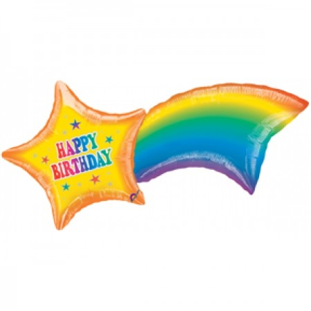 "Shooting Star Birthday Shape Foil Balloon 41"" (1)"