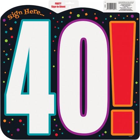 40th Milestone Birthday Sign-In Sheet (1)