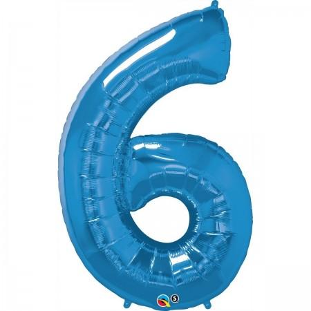 "34"" 6 Blue Number Shape - Package (1)"