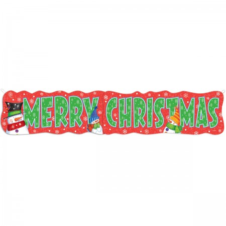Snowman Buddies Giant Jointed Banner (1)