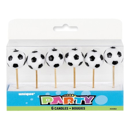 Soccer Ball Pick Candles (6)