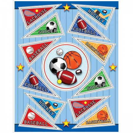 Sports Pennants Stickers (4)