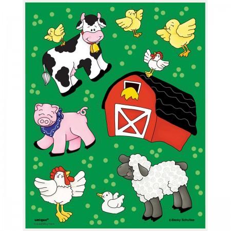 Farm Friends Sticker Sheets (4)