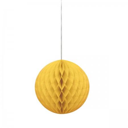 "Sun Yellow Honeycomb Ball 8"" (1)"