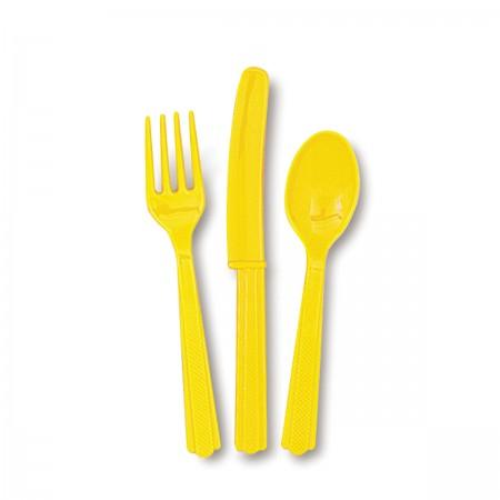 Sunflower Yellow Assorted Cutlery (24)