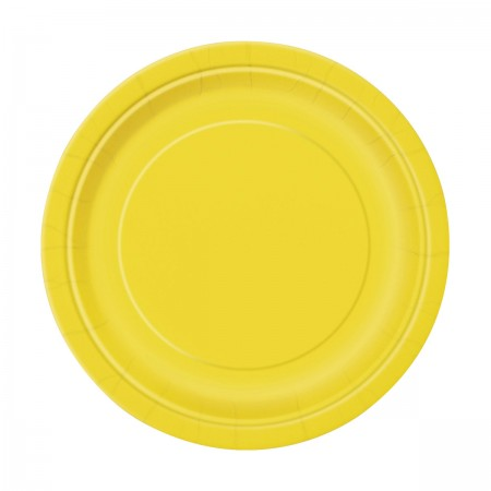 Sunflower Yellow Dessert Plates (20)