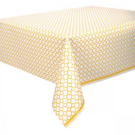 Sunflower Yellow Quatrefoil Table Cover (1)