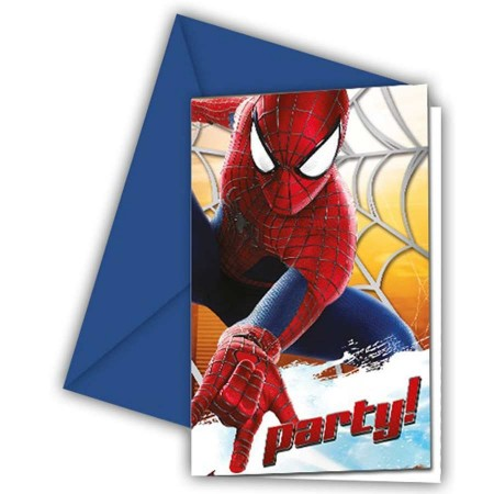 The Amazing Spiderman Invitations & Envelopes (6)