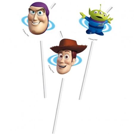 Toy Story Medallion Flexi Drinking Straws (6)