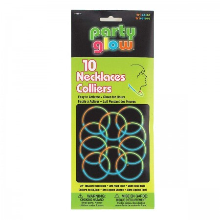 "Tri-Color Necklaces with Connectors 22"" (10)"