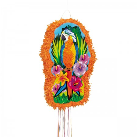 Tropical Parrot Expandable Pull String Pinata (1)