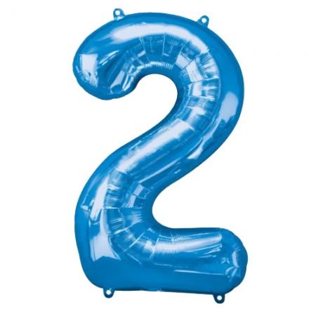 "34"" 2 Blue Number Shape - Package (1)"