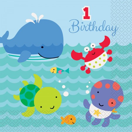 Under the Sea Pals 1st Birthday Lunch Napkins (20)
