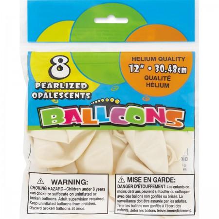 White Pearlized Balloons (8)