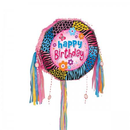 Wild Birthday Drum Pull Pop Pinata (1)