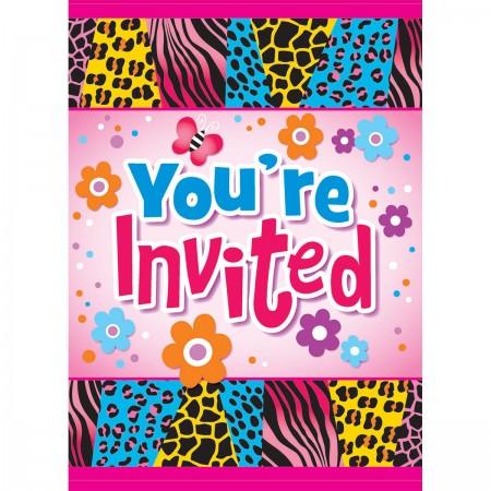 Wild Birthday Invitations (8)