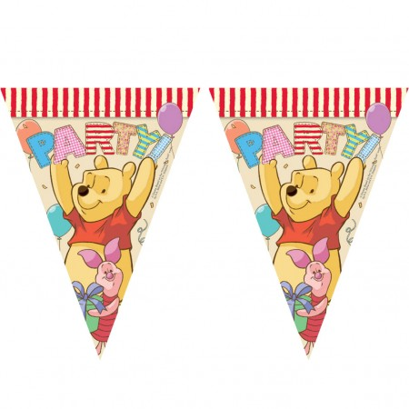 Winnie The Pooh Triangle Flag Banner ( 9 flags )