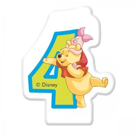 Disney Winnie Number 4 Candle (1)