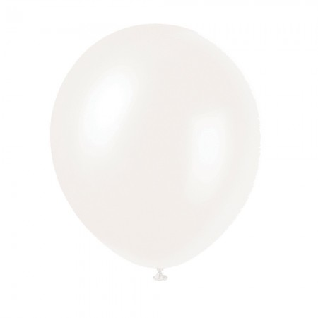Winter White Pearlized Balloons (10)
