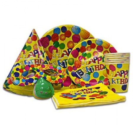 Yellow Balloon Party Pack For 6 (1)