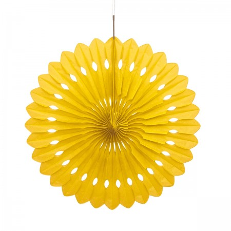 Yellow Decorative Fan (1)
