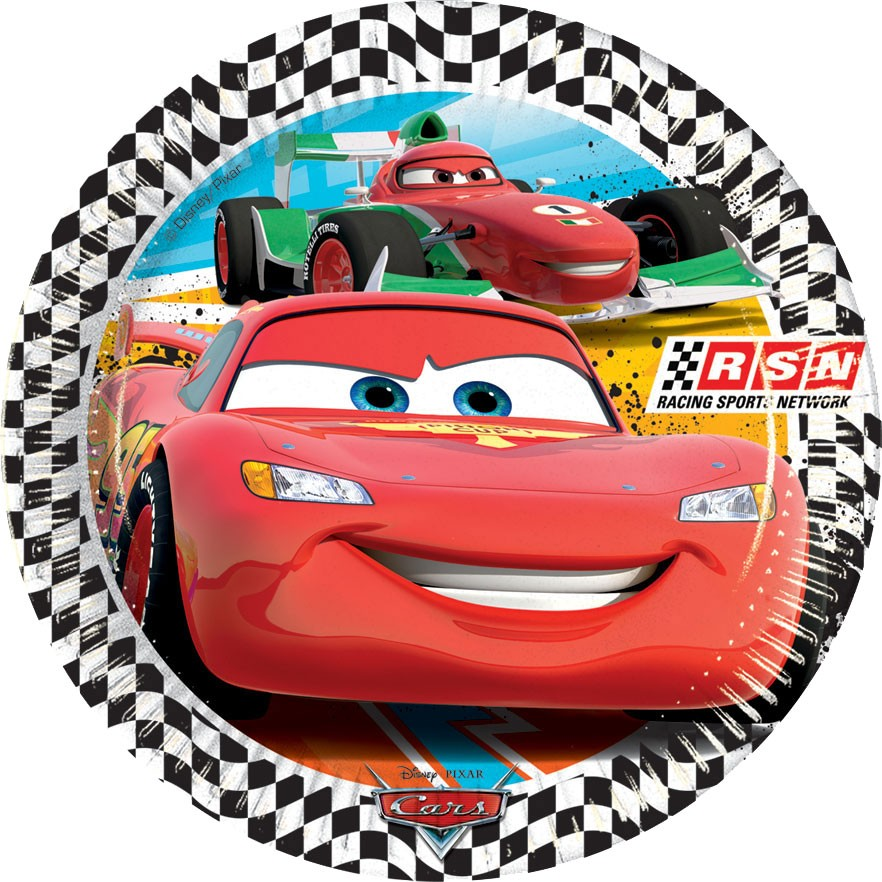 Disney Cars Lunch Paper Plates (8). Zoom  sc 1 st  MyBirthdaySupplies & Disney Cars RSN Paper Plates - Paper Plate Supplies in India