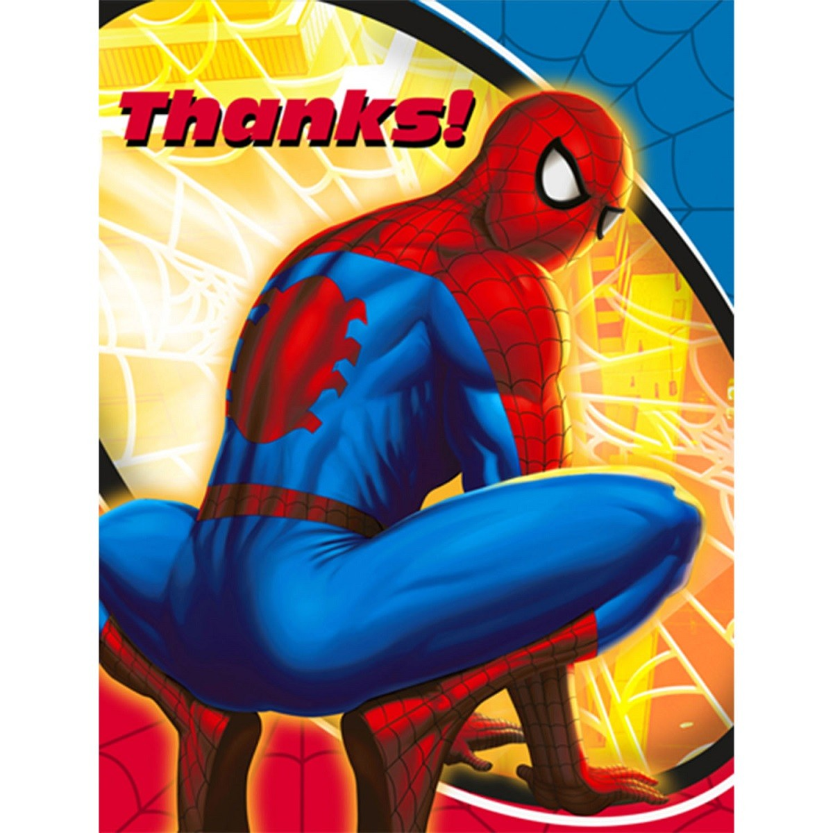 Spiderman Birthday Party Thank You Cards Thank You Cards