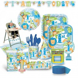 1st Birthday Blue Safari Premium Kit