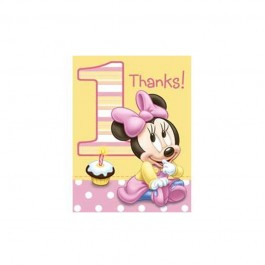 First Birthday Minnie Mouse Thank You Notes (8)