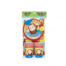Curious George Party Pack for 8 (1)