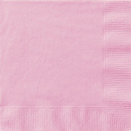 Pastel Pink Beverages Napkins (20)