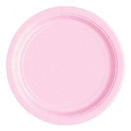 Pastel Pink Round Dessert Plates (20)