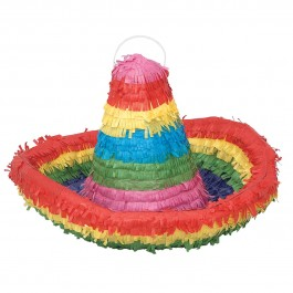 3D Sombrero Pinata with Pull String Kit (1)