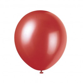 Frosted Red Latex Balloons (10)