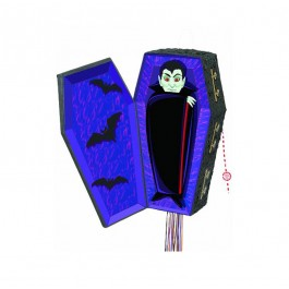 Vampire Coffin Pull Pop out Piñata (1)