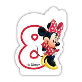 Disney Minnie Mouse Birthday Number 8 Candle (1)