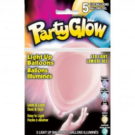 Pastel Colors Assorted Light-Up Balloons (5)