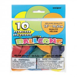 Assorted Pearlized Balloons (10)