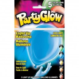 Primary Colors Assorted Light Up Balloons (5)