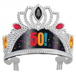 50th Milestone Birthday Tiara (1)