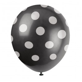 Black Polka Dot Balloons (6)